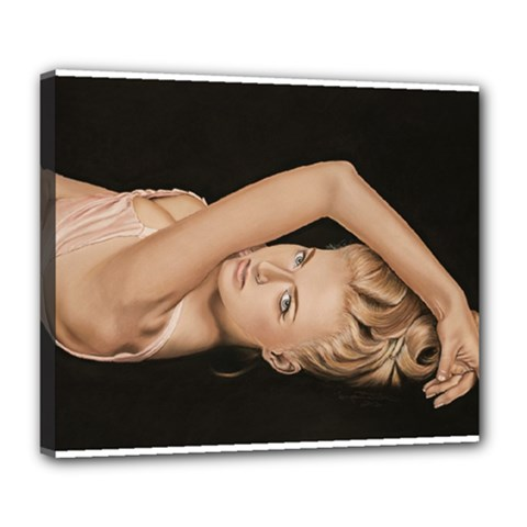 Alluring Deluxe Canvas 24  x 20  (Framed)