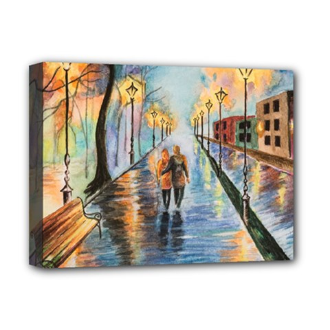 Just The Two Of Us Deluxe Canvas 16  X 12  (framed)  by TonyaButcher