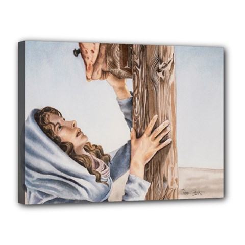 Stabat Mater Canvas 16  X 12  (framed) by TonyaButcher