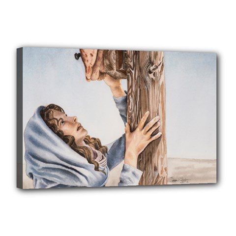 Stabat Mater Canvas 18  X 12  (framed) by TonyaButcher