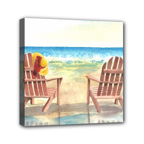 Time To Relax Mini Canvas 6  X 6  (framed)