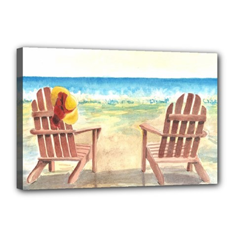 Time To Relax Canvas 18  X 12  (framed) by TonyaButcher