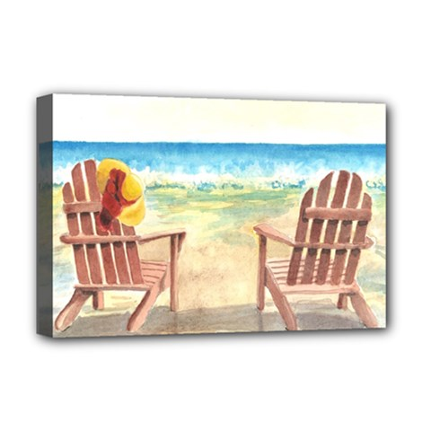 Time To Relax Deluxe Canvas 18  X 12  (framed) by TonyaButcher