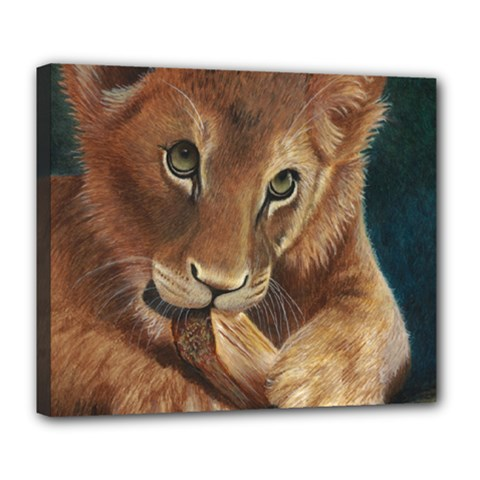Playful  Deluxe Canvas 24  X 20  (framed) by TonyaButcher