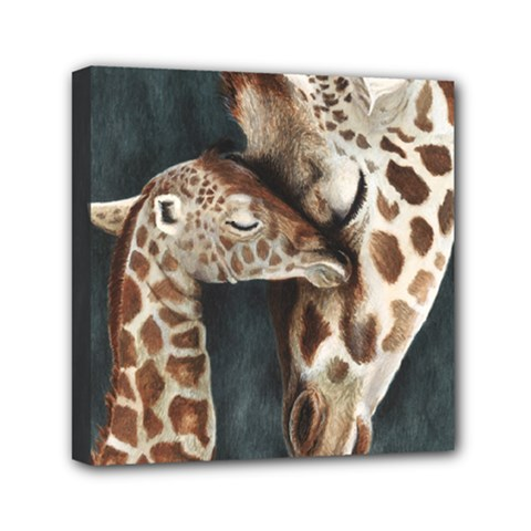 A Mother s Love Mini Canvas 6  X 6  (framed) by TonyaButcher