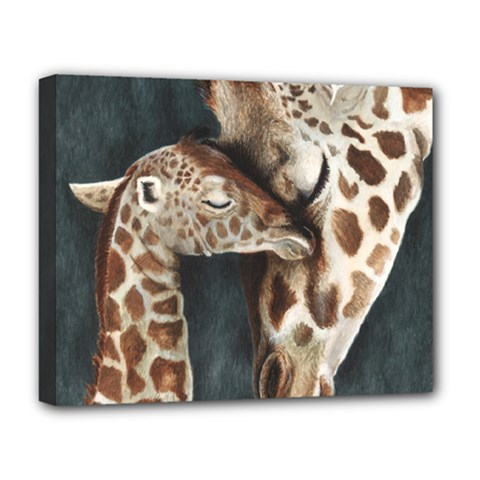 A Mother s Love Deluxe Canvas 20  X 16  (framed) by TonyaButcher