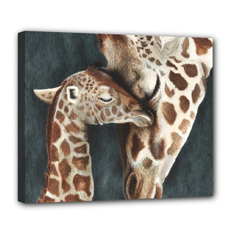 A Mother s Love Deluxe Canvas 24  X 20  (framed) by TonyaButcher