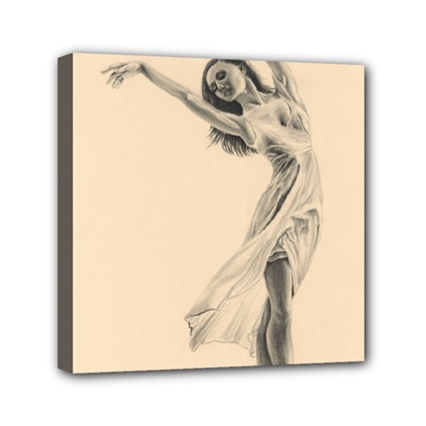 Graceful Dancer Mini Canvas 6  X 6  (framed) by TonyaButcher