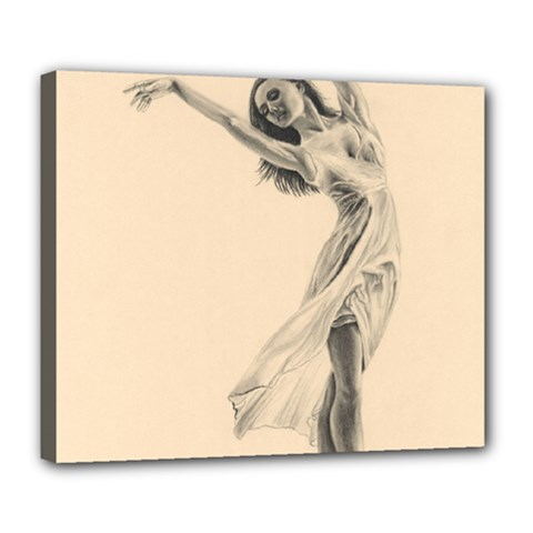 Graceful Dancer Deluxe Canvas 24  X 20  (framed) by TonyaButcher