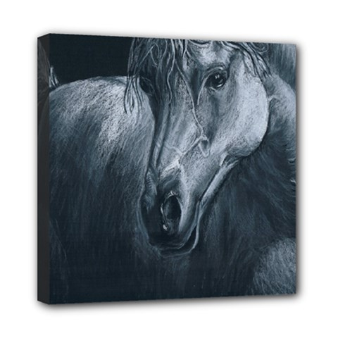 Equine Grace  Mini Canvas 8  X 8  (framed)