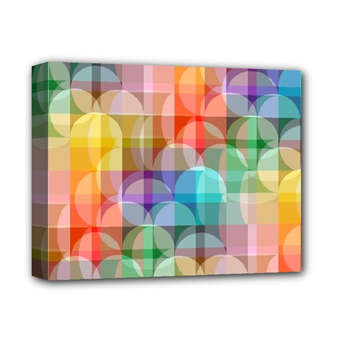 Circles Deluxe Canvas 14  X 11  (framed) by Lalita