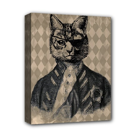 Harlequin Cat Deluxe Canvas 14  X 11  (framed) by StuffOrSomething