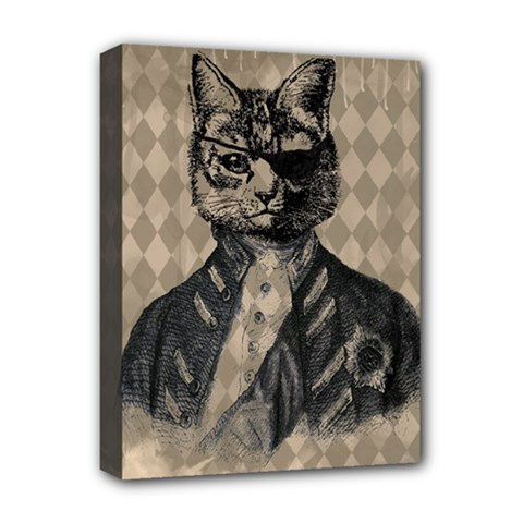 Harlequin Cat Deluxe Canvas 16  X 12  (framed)  by StuffOrSomething