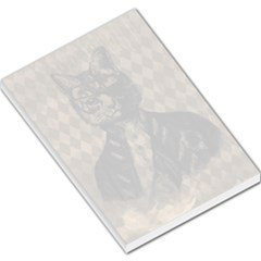 Harlequin Cat Large Memo Pad by StuffOrSomething