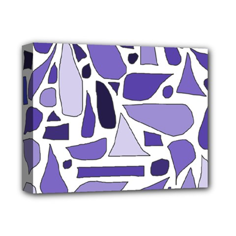 Silly Purples Deluxe Canvas 14  X 11  (framed) by FunWithFibro