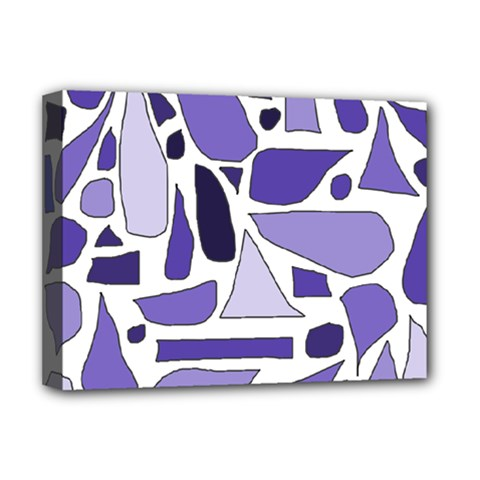 Silly Purples Deluxe Canvas 16  X 12  (framed)  by FunWithFibro