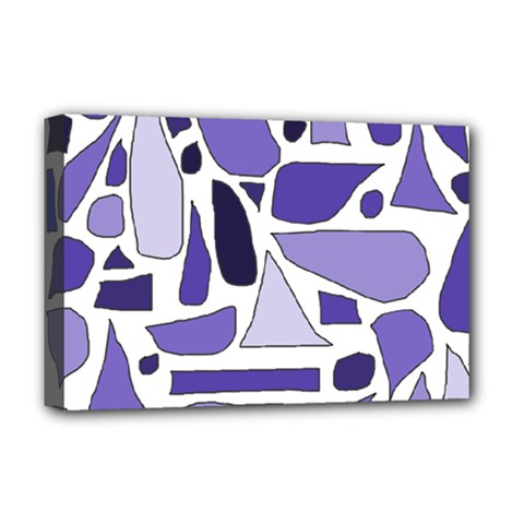 Silly Purples Deluxe Canvas 18  X 12  (framed) by FunWithFibro