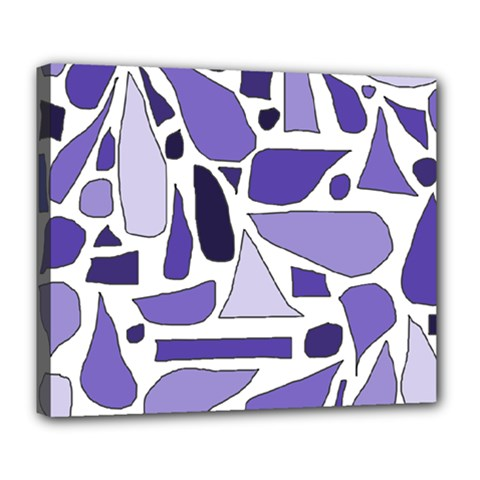 Silly Purples Deluxe Canvas 24  X 20  (framed) by FunWithFibro