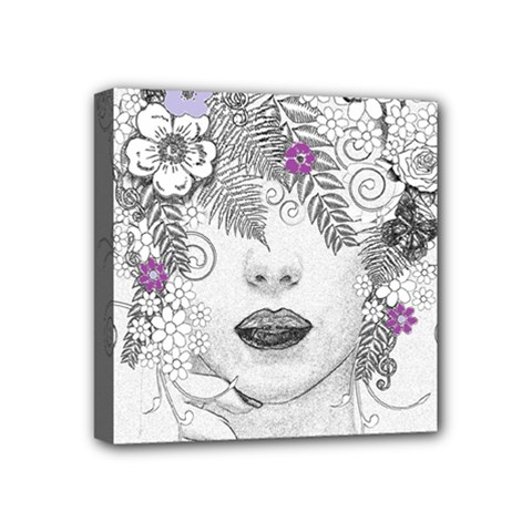 Flower Child Of Hope Mini Canvas 4  X 4  (framed) by FunWithFibro