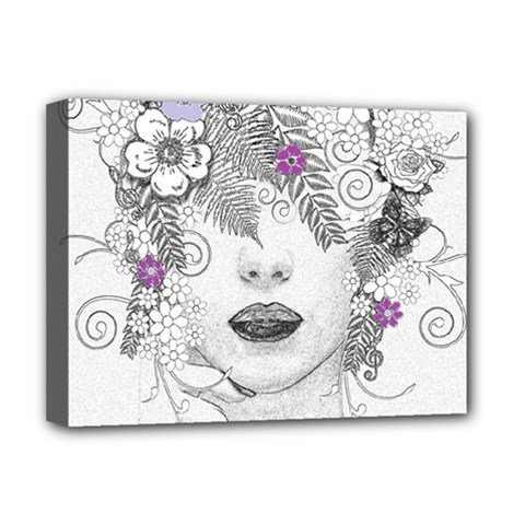 Flower Child Of Hope Deluxe Canvas 16  X 12  (framed)  by FunWithFibro