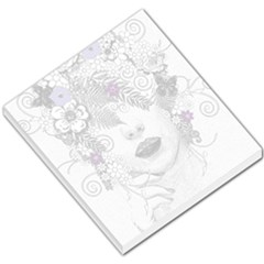 Flower Child Of Hope Small Memo Pad by FunWithFibro