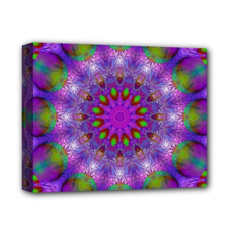 Rainbow At Dusk, Abstract Star Of Light Deluxe Canvas 14  X 11  (framed) by DianeClancy