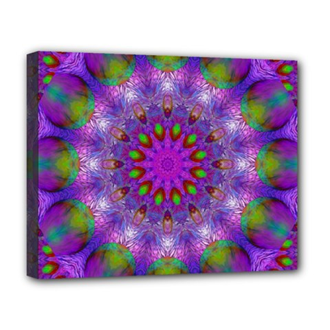 Rainbow At Dusk, Abstract Star Of Light Deluxe Canvas 20  X 16  (framed) by DianeClancy