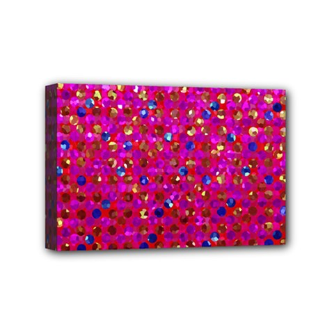 Polka Dot Sparkley Jewels 1 Mini Canvas 6  X 4  (framed) by MedusArt