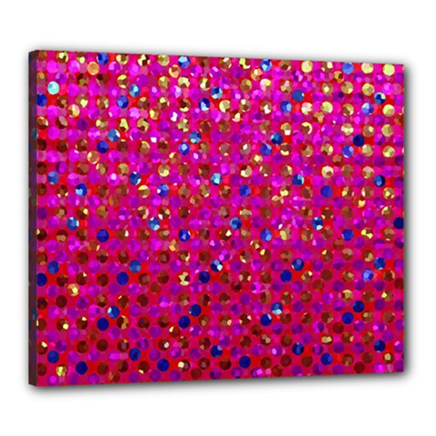 Polka Dot Sparkley Jewels 1 Canvas 24  X 20  (framed) by MedusArt