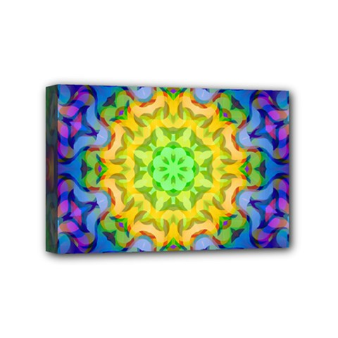 Psychedelic Abstract Mini Canvas 6  X 4  (framed) by Colorfulplayground