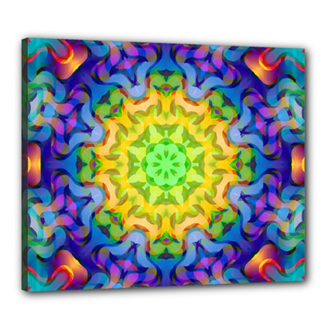 Psychedelic Abstract Canvas 24  X 20  (framed) by Colorfulplayground