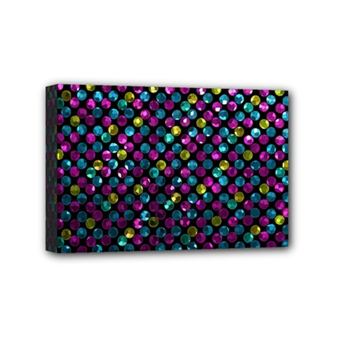 Polka Dot Sparkley Jewels 2 Mini Canvas 6  X 4  (framed) by MedusArt