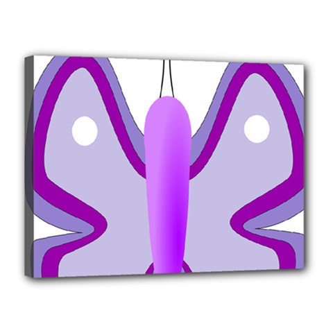 Cute Awareness Butterfly Canvas 16  X 12  (framed) by FunWithFibro