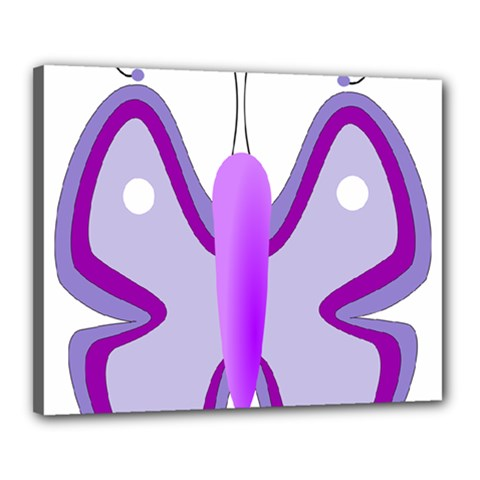Cute Awareness Butterfly Canvas 20  X 16  (framed) by FunWithFibro