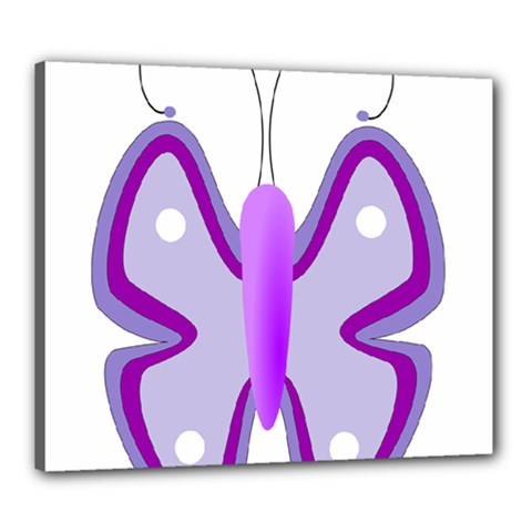 Cute Awareness Butterfly Canvas 24  X 20  (framed) by FunWithFibro