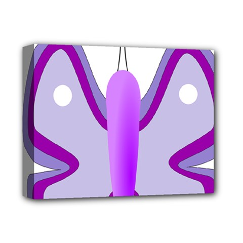 Cute Awareness Butterfly Deluxe Canvas 14  X 11  (framed) by FunWithFibro