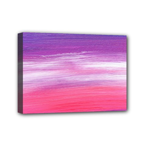 Abstract In Pink & Purple Mini Canvas 7  X 5  (framed) by StuffOrSomething