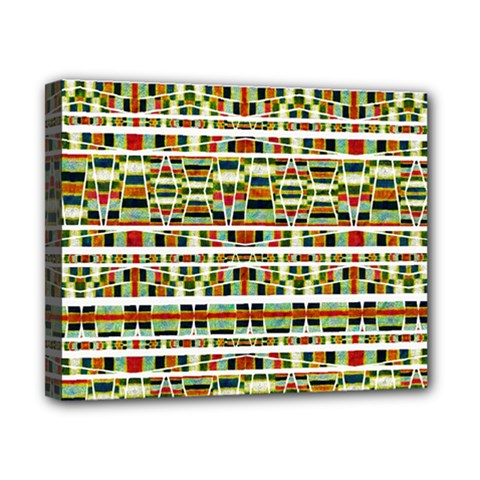 Aztec Grunge Pattern Canvas 10  X 8  (framed) by dflcprints