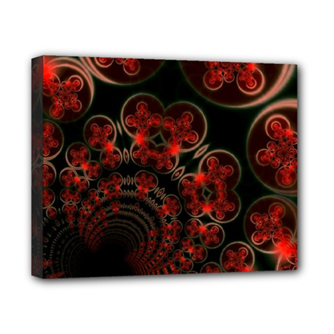 Phenomenon, Orange Gold Cosmic Explosion Canvas 10  X 8  (framed) by DianeClancy