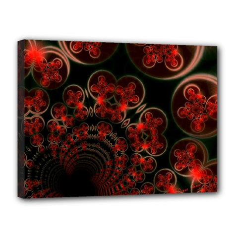 Phenomenon, Orange Gold Cosmic Explosion Canvas 16  X 12  (framed) by DianeClancy