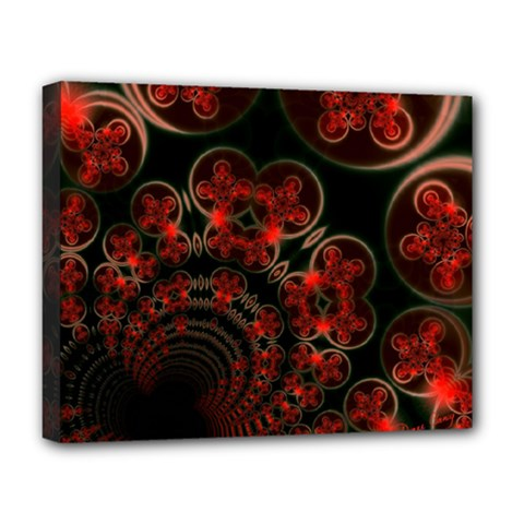 Phenomenon, Orange Gold Cosmic Explosion Deluxe Canvas 20  X 16  (framed) by DianeClancy