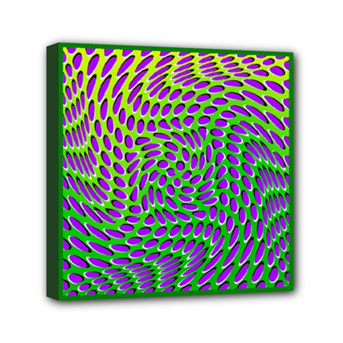 Illusion Delusion Mini Canvas 6  X 6  (framed) by SaraThePixelPixie