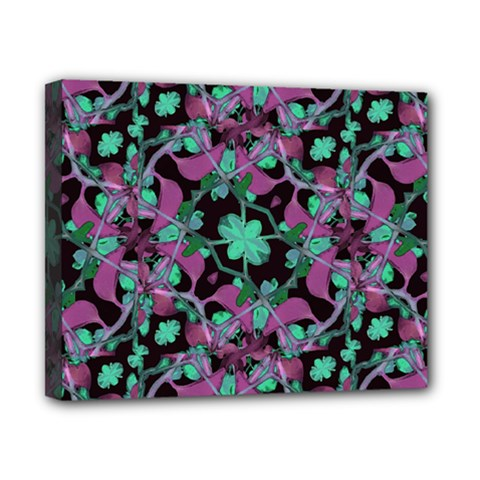 Floral Arabesque Pattern Canvas 10  X 8  (framed) by dflcprints