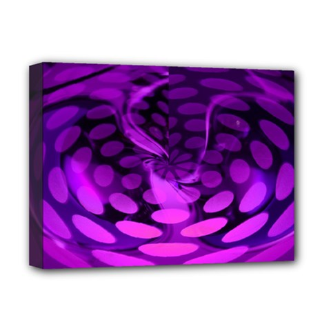 Abstract In Purple Deluxe Canvas 16  X 12  (framed)  by FunWithFibro