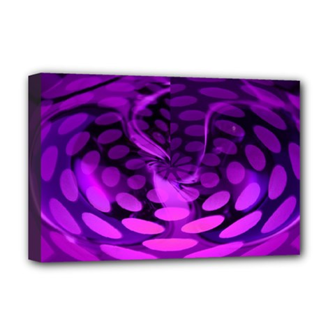 Abstract In Purple Deluxe Canvas 18  X 12  (framed) by FunWithFibro