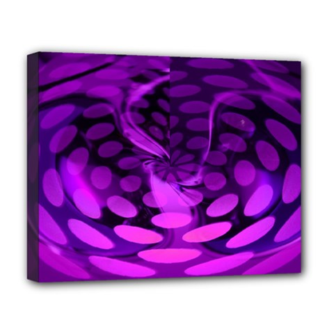 Abstract In Purple Deluxe Canvas 20  X 16  (framed) by FunWithFibro
