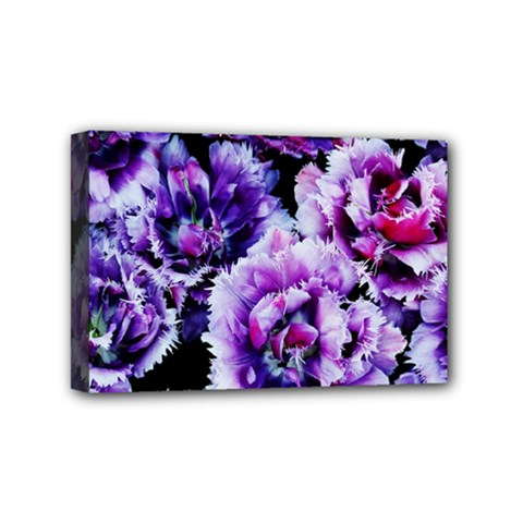 Purple Wildflowers Of Hope Mini Canvas 6  X 4  (framed) by FunWithFibro