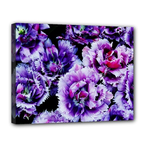 Purple Wildflowers Of Hope Canvas 14  X 11  (framed)