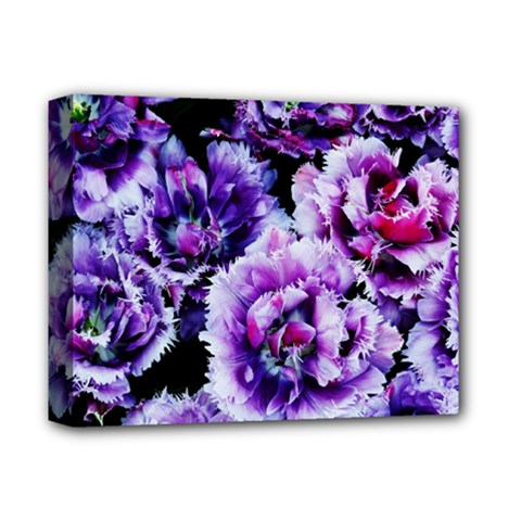 Purple Wildflowers Of Hope Deluxe Canvas 14  X 11  (framed) by FunWithFibro