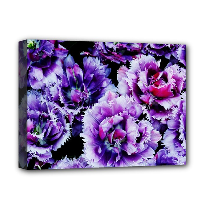 Purple Wildflowers Of Hope Deluxe Canvas 16  x 12  (Framed)